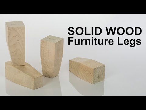 Furniture Legs Wooden solid wood leg with tapered foot | ready for stain or paint - youtube