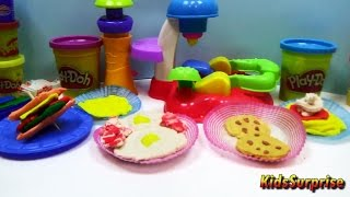 Play Doh Food English Breakfast Bacon Waffles Cookies From Play Doh