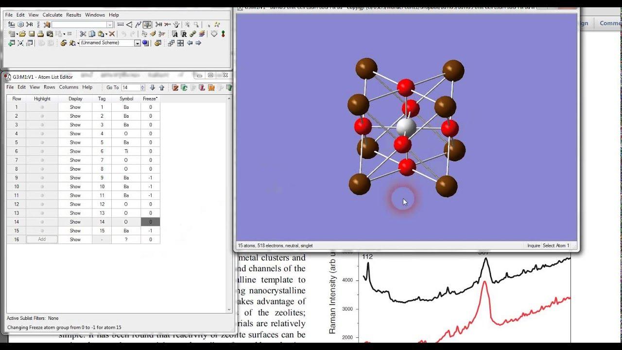 Fijar átomos en Gaussian 09 /Fixed atoms in Gaussian 09