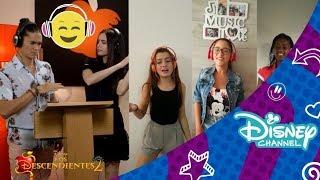Los Descendientes 2: Sofía Carson y Booboo Stewart cantan con Pepper3 | Disney Channel Oficial