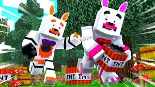 Funtime Foxy And Lolbit Play TNT Tag (Minecraft Fnaf Roleplay Adventure)