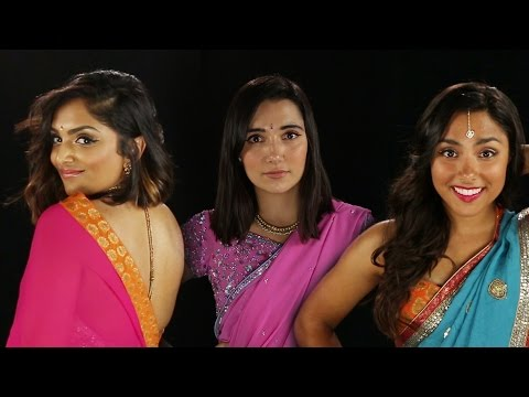 Women Dress Themselves In Sarees For The First Time