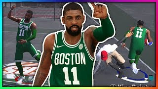 KYRIE IRVING INSANE LAYUPS AND ANKLE BREAKERS NBA 2K18! BOSTON CELTICS KYRIE IRVING AT THE PARK!