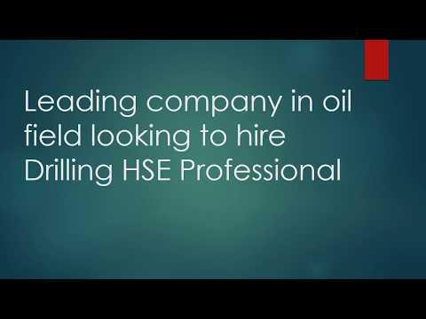 Hiring Drilling HSE Supervisor
