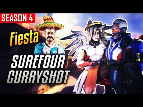 Overwatch Fiesta - SUREFOUR W/ CURRYSHOT Funniest Duo [SEASON 4]