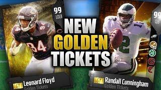 NEW GOLDEN TICKETS | RANDALL CUNNINGHAM AND LEONARD FLOYD | Madden 18 Ultimate Team Golden Tickets