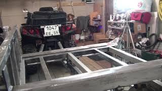 Прицеп для квадроцикла, самосвал, съёмно-откидной борт (2 серия)