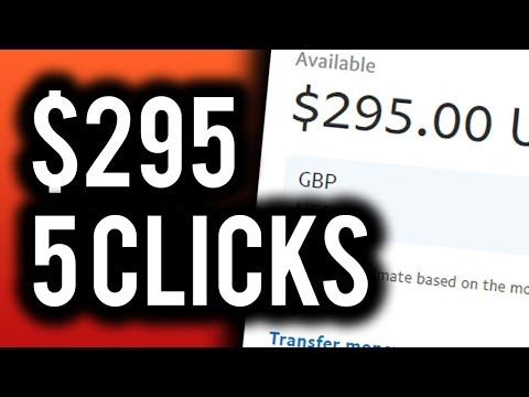Earn $295.00 in 5 CLICKS! **WITH PROOF** - Make Money Online 2019