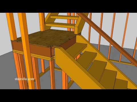 Build 4 x 4 Landing Newel Post into Framing for Stronger Guardrails
