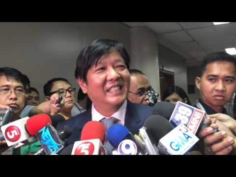 Bongbong Marcos on whether he has Oxford degree: I suppose