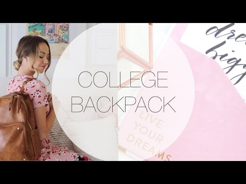 WHAT'S IN MY COLLEGE BACKPACK |  2017