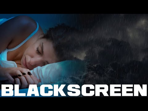 Rolling Thunder and Rain BLACK SCREEN for sleep relaxation sounds