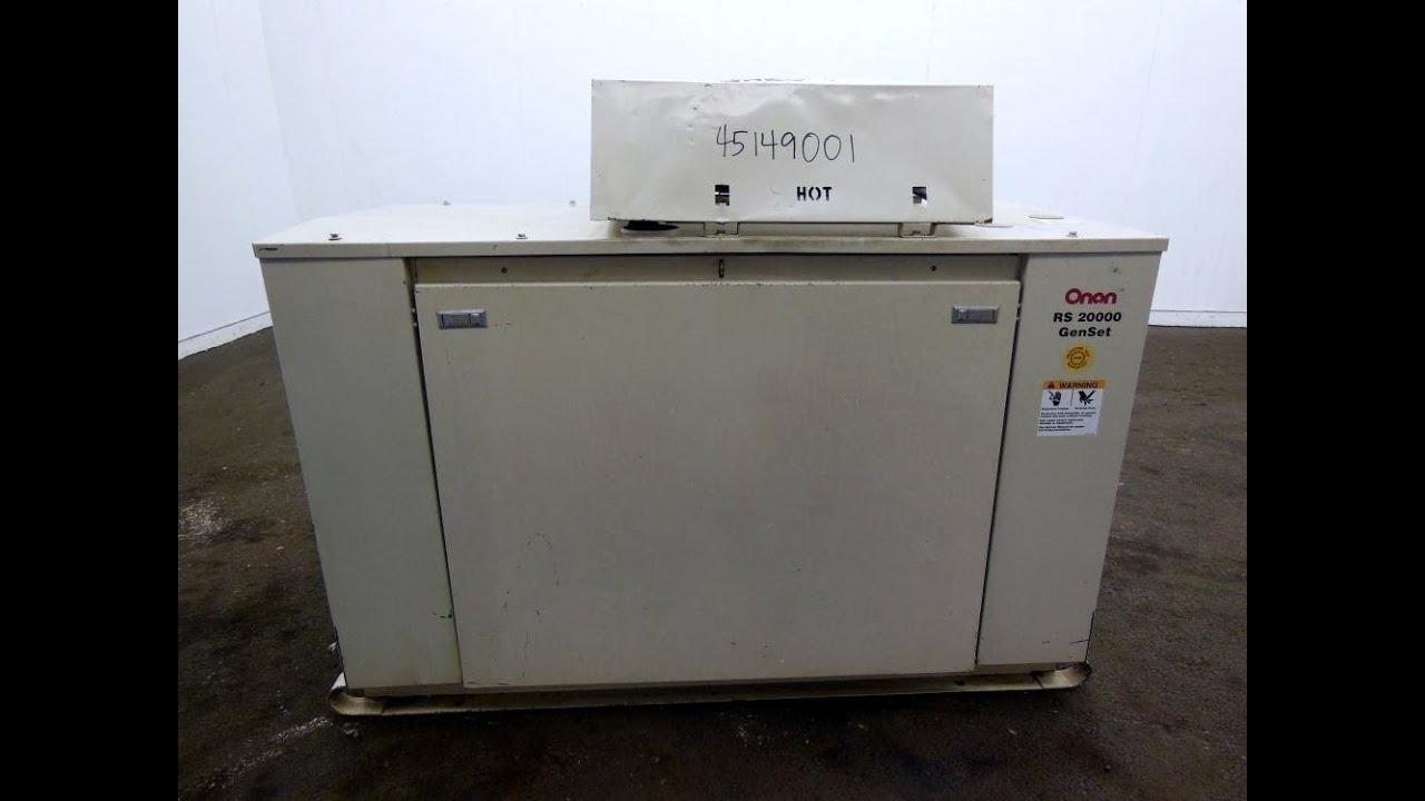 Used- Cummins Onan 20kW RS 20000 natural gas generator set - Stock #  45149001