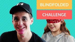 BLINDFOLDED MAKEUP CHALLENGE sa sestrom 😝 | LayZ