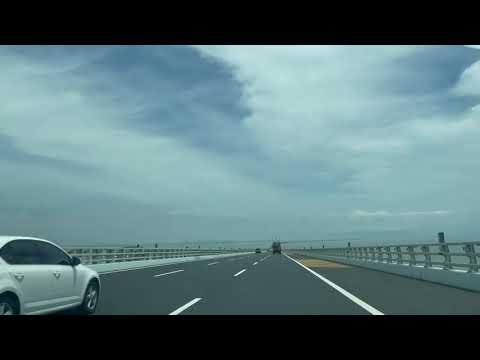 青岛市胶州湾大桥 这里天气比较好