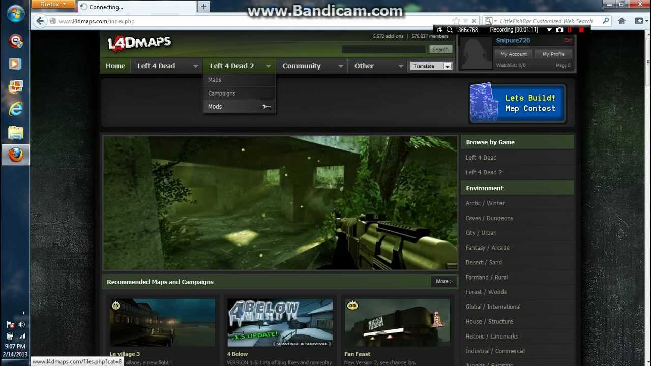 How to install Left 4 Dead 2 Maps, Mods and Skins for Windows 7