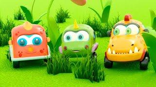 🚙 Машинки Мокас – Серия 15 – Поиск яиц | Новый мультик для детей про машинки