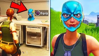 "*NEW* ""Secret Mask"" FOUND in Fortnite Battle Royale! Season 4 SECRET BlockBuster Mask?"