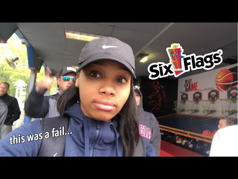 SIX FLAGS SENIOR TRIP VLOG (Didn't end well...)