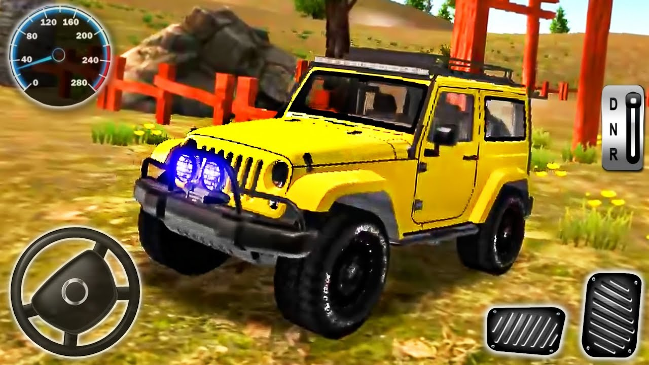 Jeep Driving Simulator - Offroad 4x4 Mountain Sport Car Drive - Android GamePlay