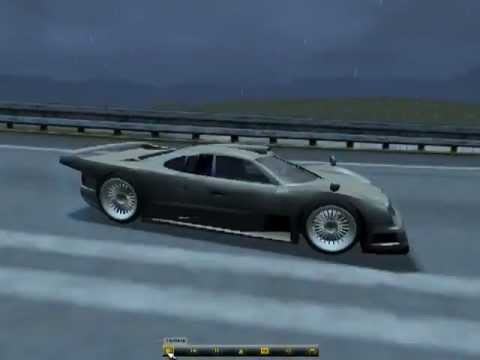 Mercedes Bens Clk Gtr Autobahn Need For Speed Porsche 2000 89