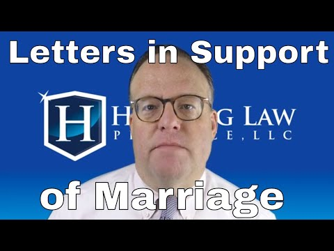 Letters In Support Of Marriage