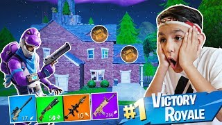 11 Year Old Loots One House To Win A Fortnite Game!