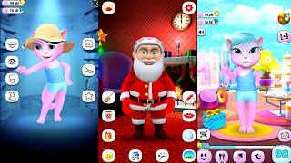 My Talking Angela Vs Santa Claus - Great Makeover Gameplay Full HD