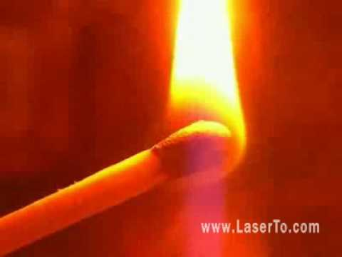 how to make a laser pointer burn things