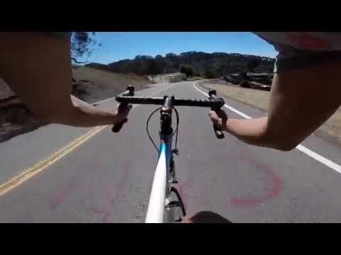 Biking from Grizzly Peak to Berkeley campus.