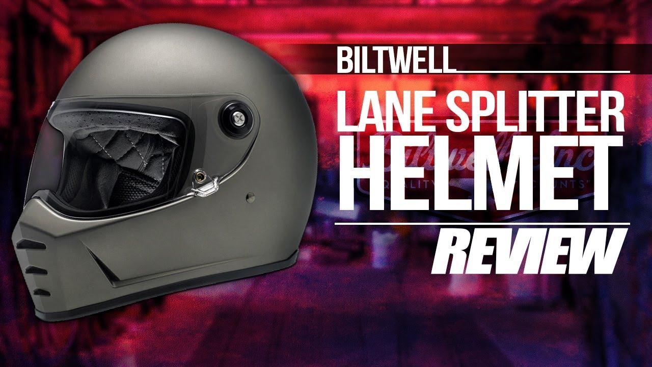 b36019abda1 Biltwell Lanesplitter Motorcycle Helmet Review - YouTube