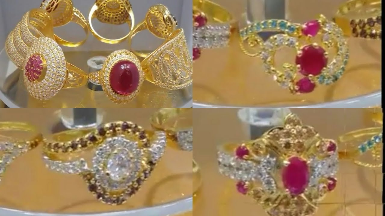 Stylish Gold and Stone Rings Designs - YouTube