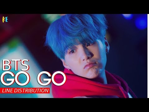 BTS- Go Go line distribution
