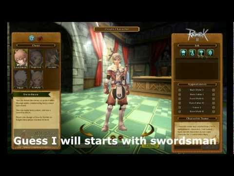 Ragnarok Online 2: Swordsman Character creation and first look gameplay.