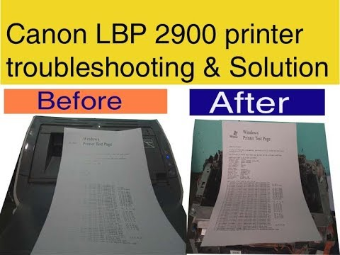 How To Solve Low Quality Printing Issue In Canon Lbp 2900 Printer
