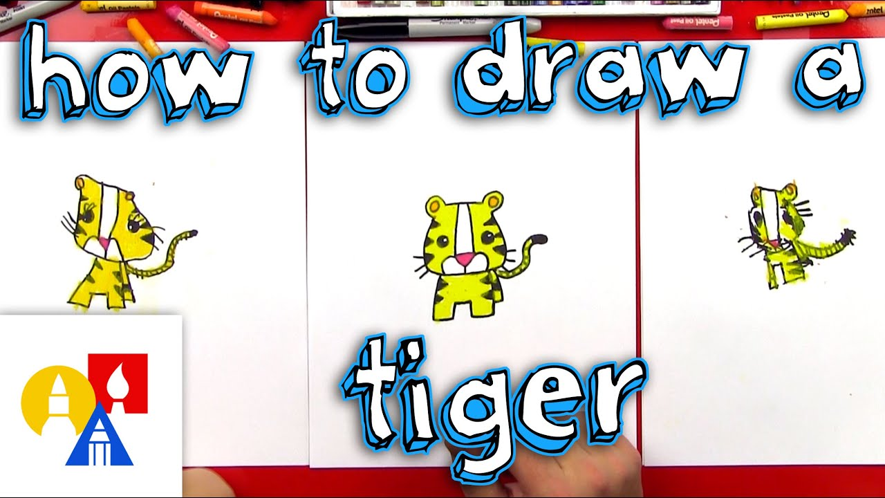 How To Draw A Cartoon Tiger Youtube