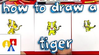 How To Draw A Cartoon Tiger
