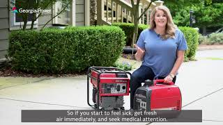 How to safely uṡe a generator