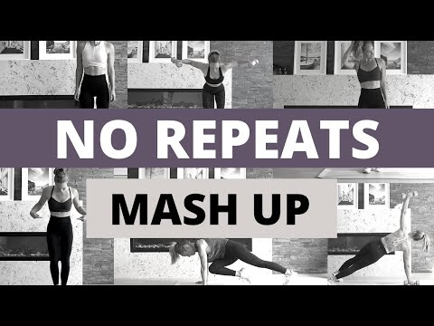 Killer NO REPEATS HIIT Mash Up!! // Total Body HIIT with Weights