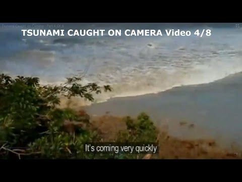 TSUNAMI CAUGHT ON CAMERA: Video 4/8