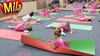 Открытый Урок в Школе Гимнастики Растяжка и Шпагаты Репетиция Танца