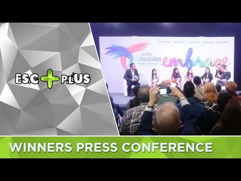 Junior Eurovision 2016: Winners Press Conference