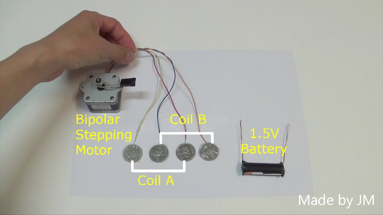 Stepping Motor Running Without Driver Circuit Youtube Stepper Wiring Basics