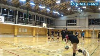 【男女混合バレーボール】SPECIAL練習試合#3-3 EVA25点ゲーム[Commentary]解説 Men and Women Mixed Volleyball JAPAN TOKYO
