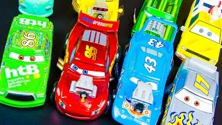 Disney Cars Toys Lightning McQueen Deluxe Piston Cup Hot Rodin Diecast Sets