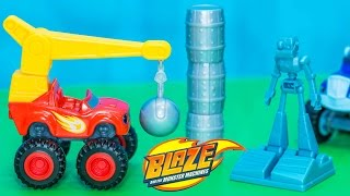 BLAZE AND THE MONSTER MACHINES Nickelodeon Blaze Wrecking Ball Blaze Video Toy Review