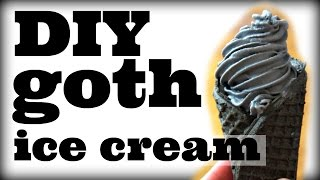 DIY Mini GOTH Soft Serve Ice Cream Cones | You Made What?!