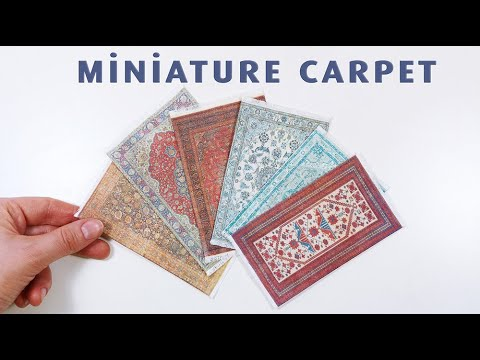 diy-miniature-carpet/rug-for-doll//dollhouse-furniture