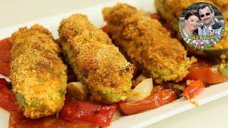 Запеченные в духовке лодочки Кабачки с фаршем.  Stuffed Zucchini. Вкусно и быстро. Простой Рецепт.