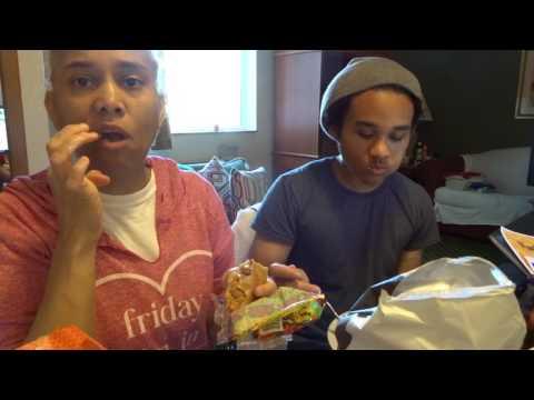 Eating Amy's and EVOL's Bean, Rice, & Cheddar Burrito|ORGANIC MUKBANG| Ft. Vasacce